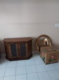 Buffet and wall mirror