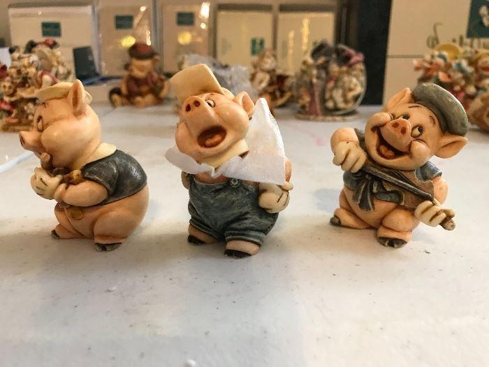 Harmony Kingdom 3 Little Pigs