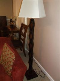 Wooden contemporary floor lamp