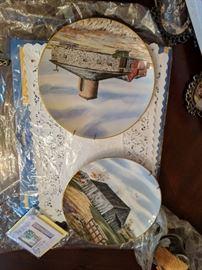 Frandscan porcelain. Several plates the historic Providence Mint