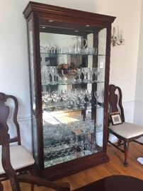 Glass Lighted Display Cabinet 43 1/2  x 79 x 14 1/2