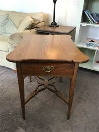 #16 Oak 1 drawer end table 22x28x26 $75.00