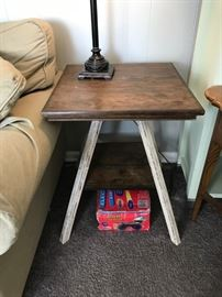 #17 (2) White Distressed End Table 20x25 $75 each