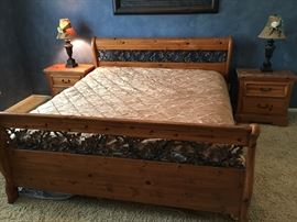 King size Bed with matching furniture