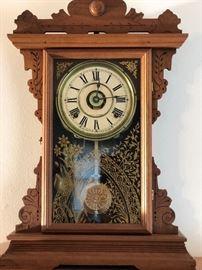 Antique Gingerbread Mantle Clock