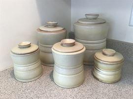 Frankoma Pottery Canister Set