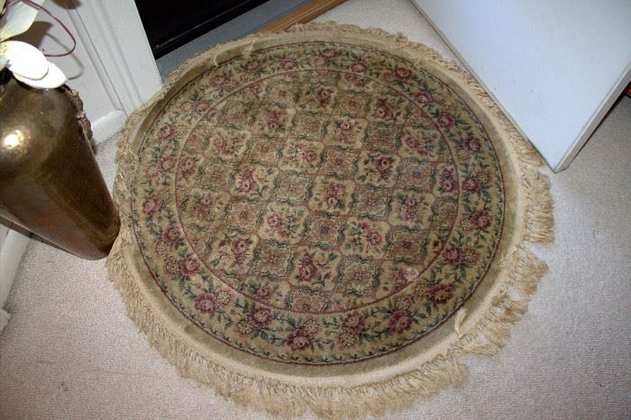 Small round rug