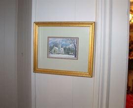 Robert Tino small signed framed print