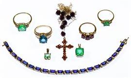 10k Gold and Semi precious Gemstone Jewelry Assortment