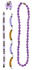 14k Gold and Lavender Jade Jewelry Assortment