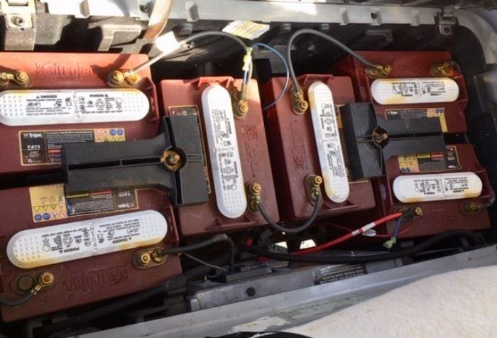 2010 Club Car, Batteries