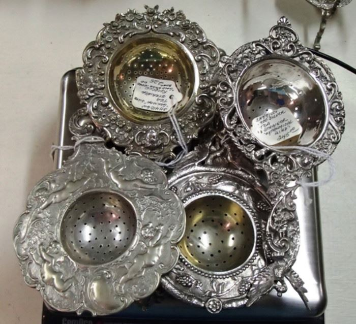 Sterling Tea Strainers