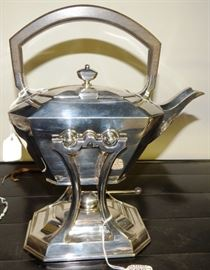 Black, Starr & Frost Sterling Durgin Fairfax Tea Kettle on Stand