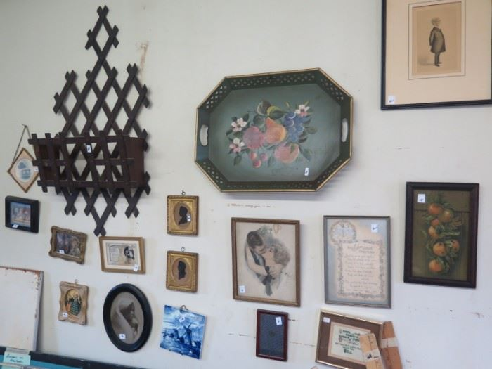antique pics and tray