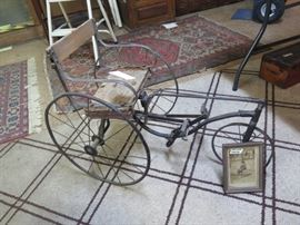 childs buggy with pic circa 1860