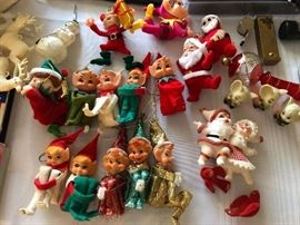 Vintage gnomes, elves, santas - some from Japan