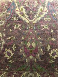 Vintage oriental rug - hard to find colors