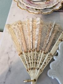 Ivory Colored Fan