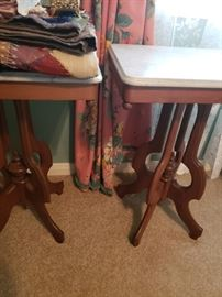 Matching Marble Top Tables