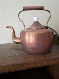 Hand Dovetailed Antique Copper Tea Kettle