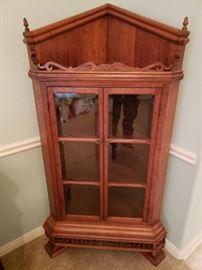 Rare Stick and Ball Corner Cabinet