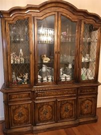 China Cabinet. Items inside sold separately.