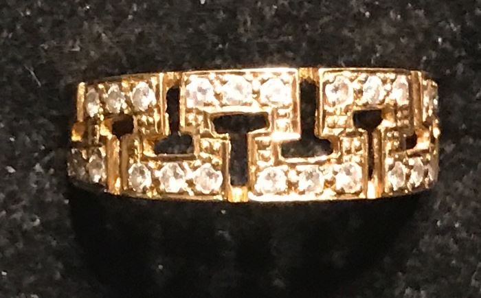 18K and diamond ring