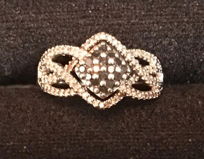 Sterling & diamond ring -Valentines Day?