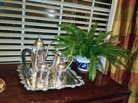 Silver plated coffee/tea set