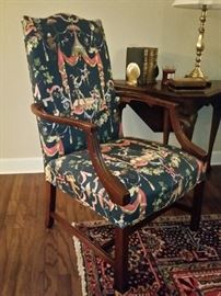 Hepplewhite chair.  Reproduction of 1800 design.   From the Williamsburg Restoration collection.