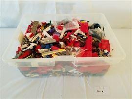 Large bin of Lego Blocks