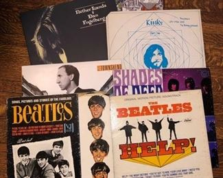 Tons of rock and roll records......