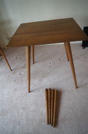 Paul McCobb card table with extra short legs