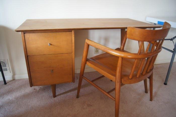 Paul McCobb desk and captains chair
