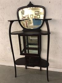 Antique Cherry Etagere with Beveled Mirror