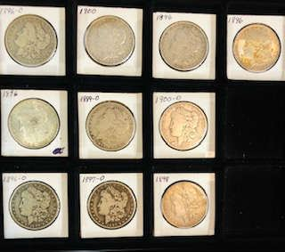 Antique 1800's -1900 Silver Dollars