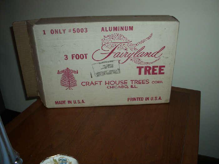 Vintage Tinsel Tree in box