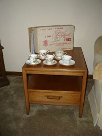 One of 2 Mid Century End Tables