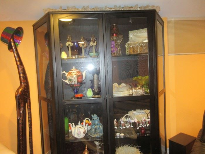 Display cabinet (not all items inside for sale)