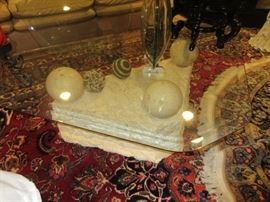 Lots of marble (rug not for sale)