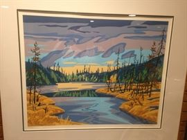 signed and number print by Paul Gauthier, Canadian Landscape Artist