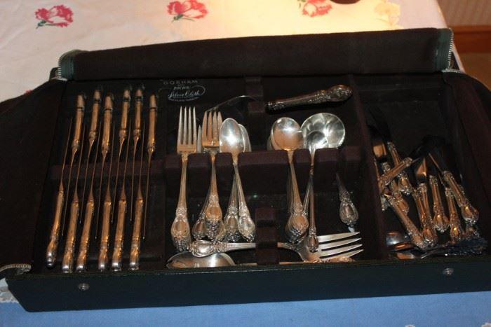 "sterling flatware set by Heirloom, ""Stanton Hall"""