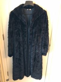 Full length mink fur coat (Made in Greece).