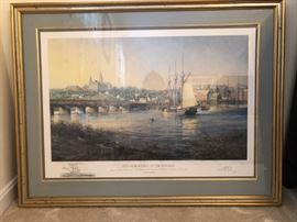 "Signed, framed, numbered Paul McGehee ""Old Georgetown"" Artist's print."