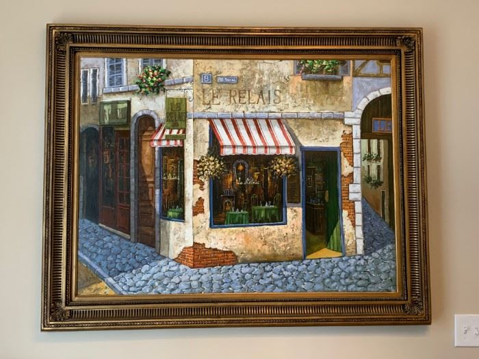 Le Relais oil painting.