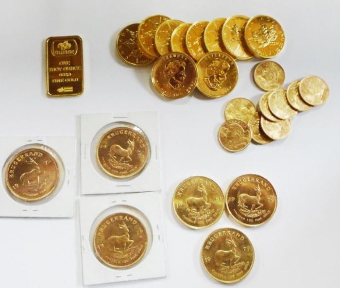 Several lots of Gold Coins