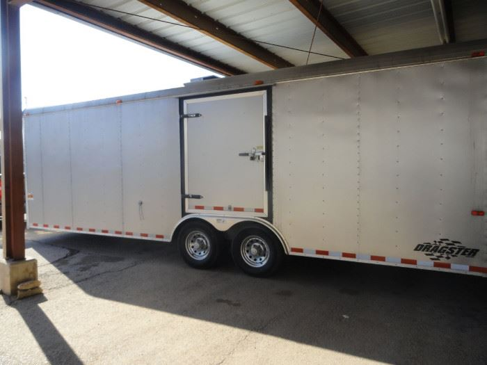 28' Enclosed car hauler trailer