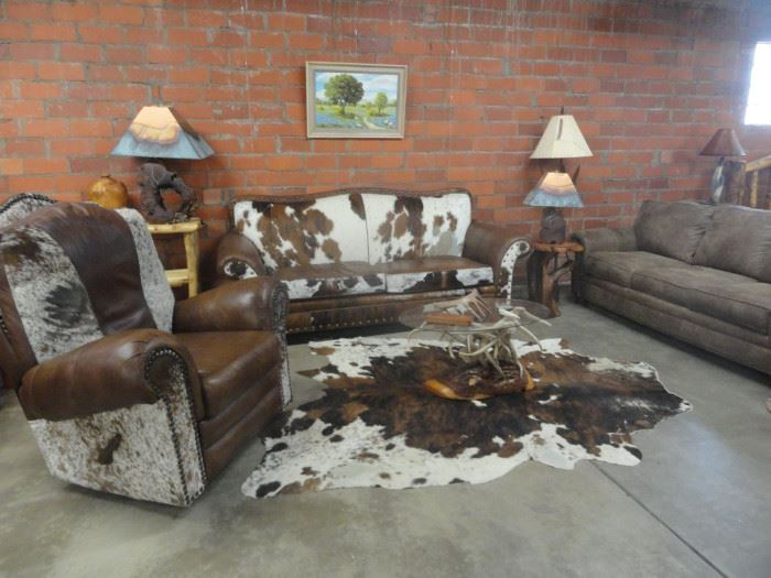 Cowhide and leather furniture