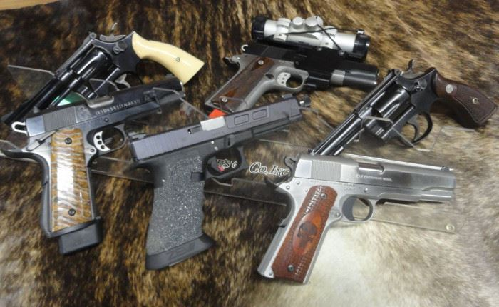 Many quality handguns
