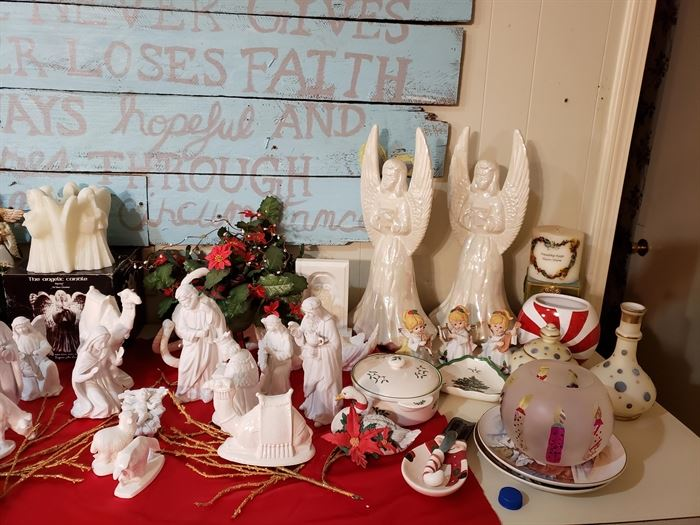Christmas Angels and Porcelain Nativity